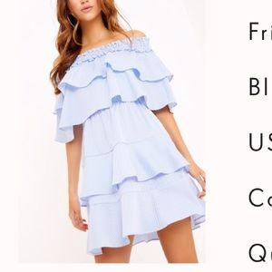 Pretty little thing off the shoulder dress